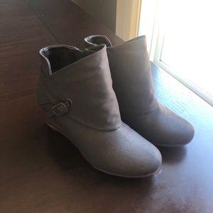 Stylish grey booties